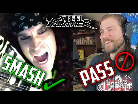 Playing SMASH or PASS with Satchel of Steel Panther | Mike The Music Snob