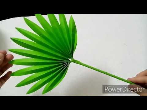 Diy Palm Leaves Paper Decoration Tutorial