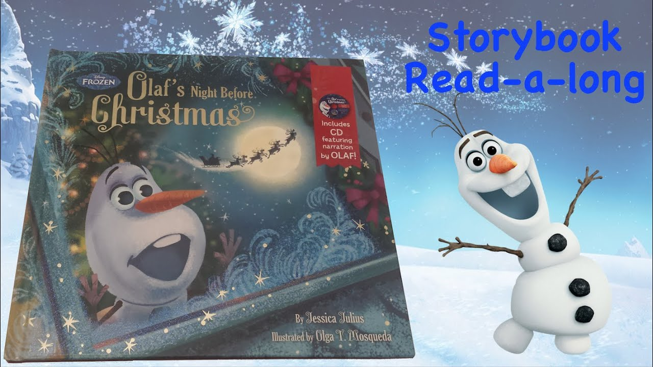Olaf\'s Night Before Christmas Storybook Read-a-Long - YouTube