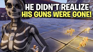 Scammer loses his guns and he didn't even realize! 🙌 (Scammer Get Scammed) Fortnite Save The World