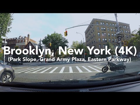 New York Scenes:  A Drive Around Brooklyn (Grand Army Plaza, Eastern Parkway) 4K