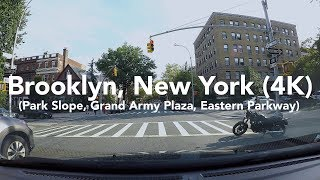 new york scenes a drive around brooklyn grand army plaza eastern parkway 4k