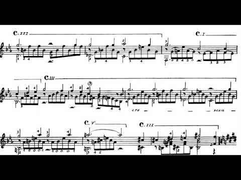 Franz Liszt - Liebestraum No. 3, S. 541 For Guitar (1850) [Score-Video]