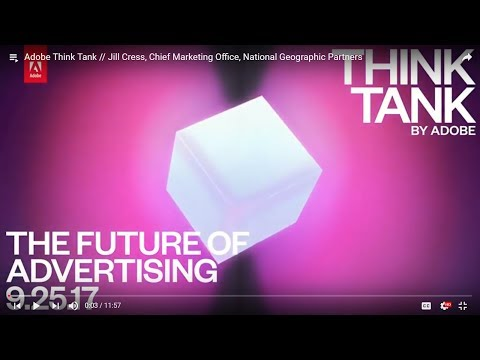 Adobe Think Tank // Jill Cress, Chief Marketing Office, National Geographic Partners