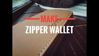 кошелек клатч с круговой молнией своими руками. КОНКУРС. Leather zip wallet Hand Made
