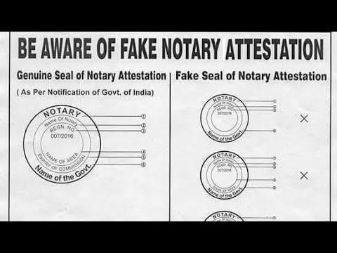 How to identify genuine seal of Notary