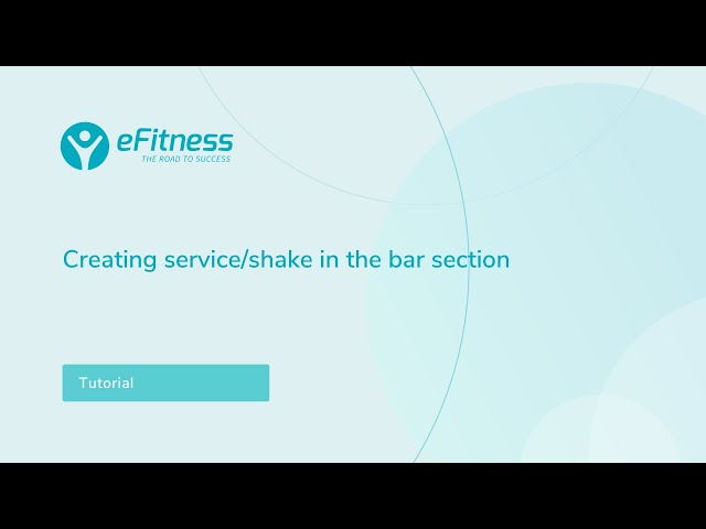 How to create a shake / a service in the bar module