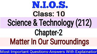 NIOS Class-10 Science & Technology(212) Chapter-2