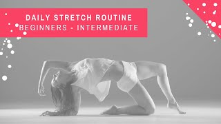 8 MINUTE DAILY STRETCH ROUTINE with CHLOE BRUCE | ultimate follow along daily stretch routine