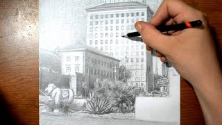 Drawing San Angelo Texas - Sketch Demonstration for a Painting