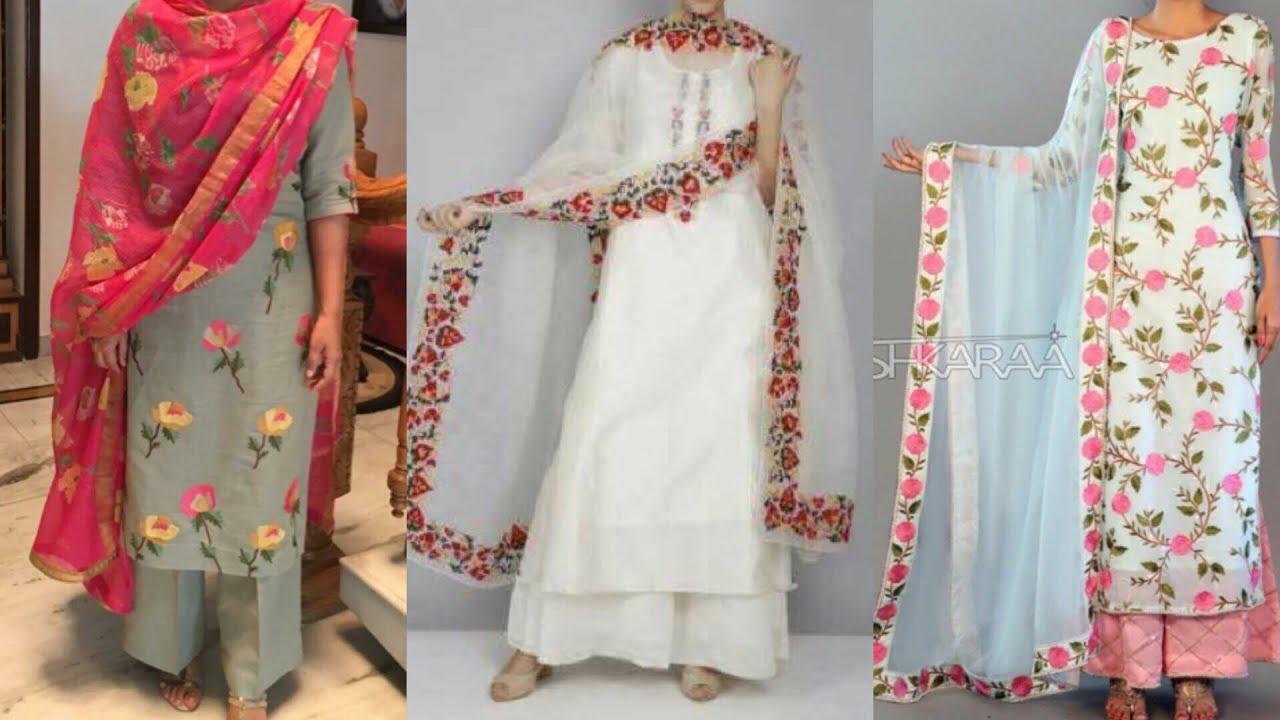 Latest Palazzo pants with kurta design ideas/kurta with ...