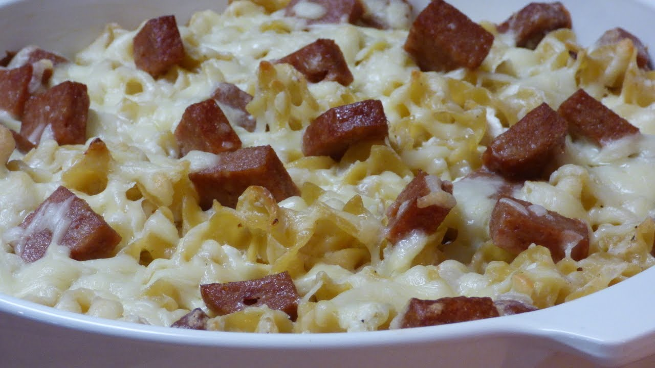 Spam 'n'  Noodles Romanoff 1961 recipe
