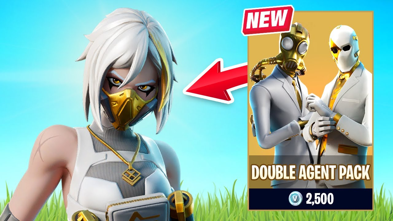 New Double Agent Pack Gameplay In Fortnite Youtube