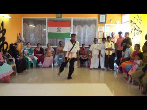 Indian Wushu Warrior Monk Training AP Kung-fu Championship Nellore Martial arts