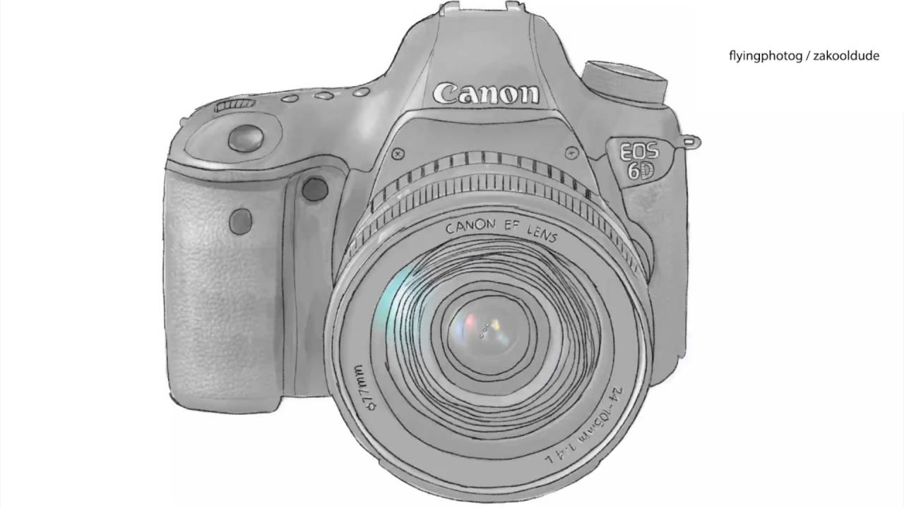 It is an image of Transformative Canon Camera Drawing