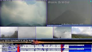 Small eruption Volcano Merapi at 11:36 WIB 22/09