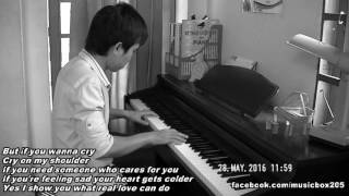 Gambar cover Cry on my shoulder piano - Bi Kun