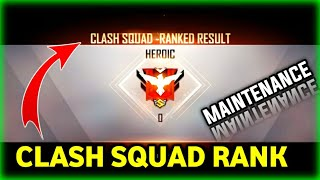 HEROIC CLASH SQUAD RANK MODE | MAINTENANCE PATCH UPDATE || PRG GAMERS