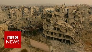 Aleppo 'haunted by violence and death'   BBC News