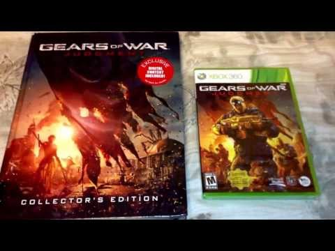 DAY 1 Gears of War Judgment w/ Collector's Guide book Unboxing for Xbox 360