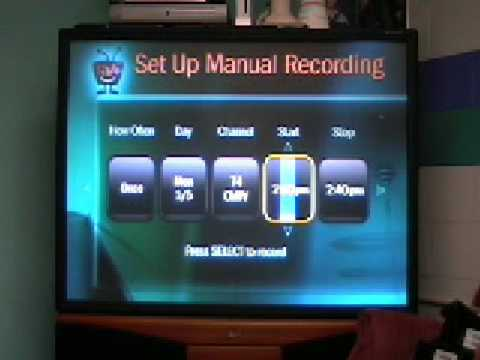 TiVo Series 2 Unsubbed Manual Recording