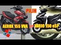 Yamaha Aerox vs Honda Vario 150 eSP