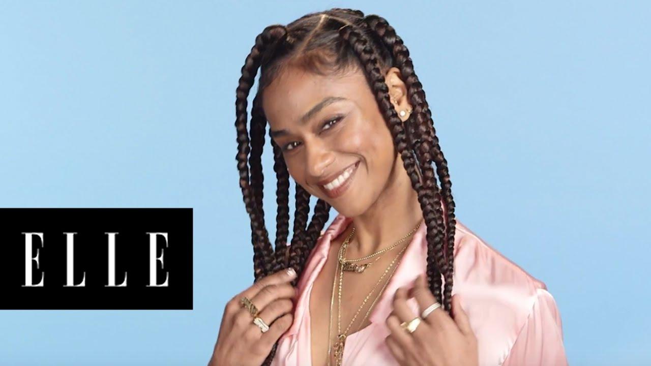 Jumbo Box Braids Tutorial With It Girl Vashtie Elle