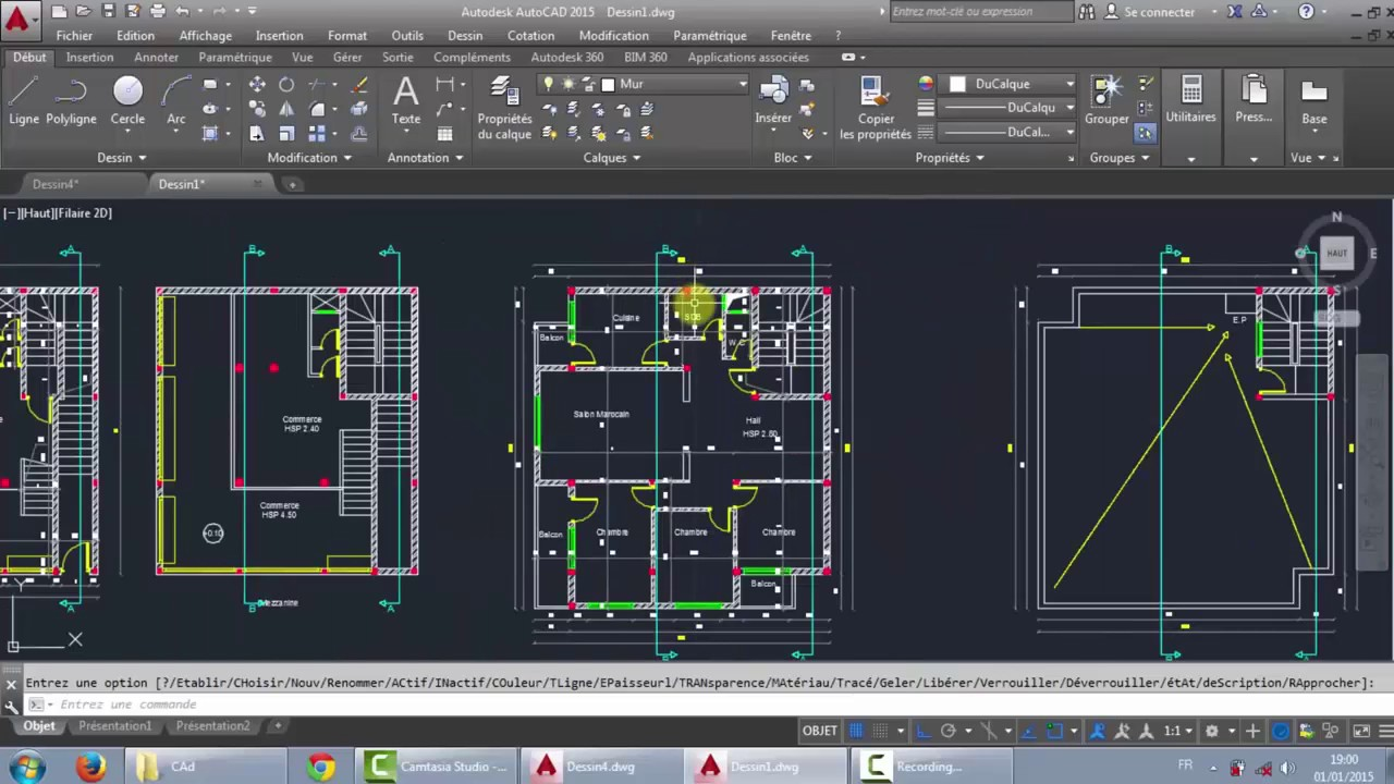 32 autocad 2d partie 1 youtube for Plan en 2d