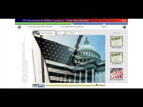 Saylor POLSC231: US Government & Politics: Lesson 11 - Party Identification