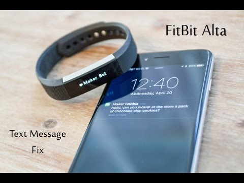 Fitbit Alta Text Message Display Issue