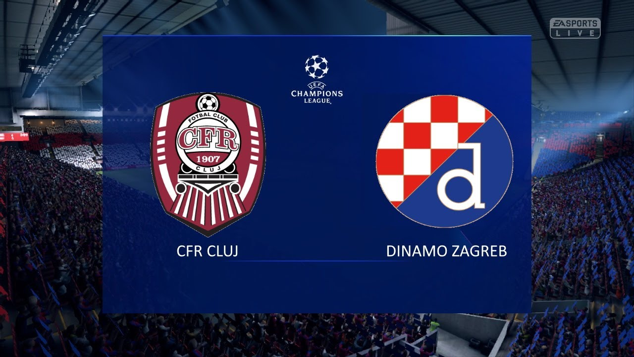 Cfr Cluj Vs Dinamo Zagreb Uefa Champions League 2020 2021 Second Qualifying Round Youtube