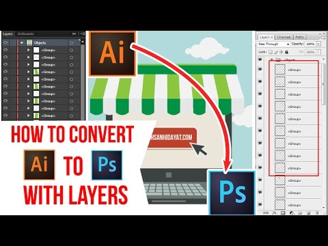 How To Convert File - Adobe Illustrator TO PSD With A Separate Layer