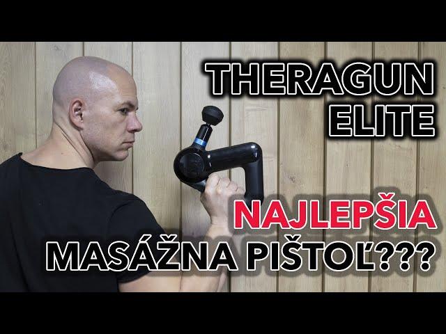 Najlepšia masážna pištoľ. Theragun Elite.