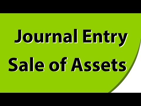 Journal Entry Related With Sale Of Assets With Example - Hindi Lecture Video