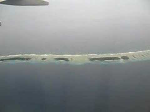 flight in the air above the Marshall Islands, Majuro, 2007#3