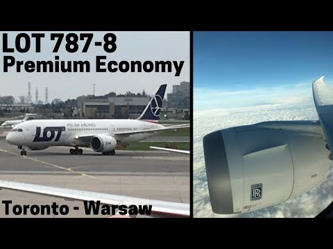 LOT Polish Airlines Boeing 787-8 Full Flight | Premium Economy | Toronto to Warsaw