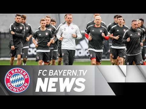 FC Bayern prior to 2nd leg Champions League tie with Sevilla