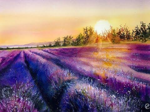 Watercolor Landscape - PREVIEW for Online Class