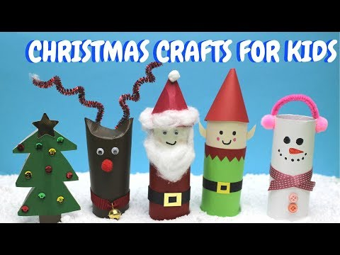 Preschool christmas crafts with toilet paper rolls