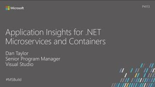 Using Application Insights with .NET containers and microservices