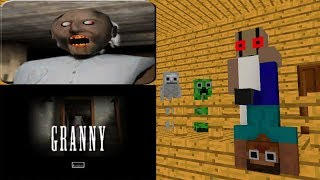 Monster School: GRANNY HORROR GAMES CHALLENGE-Minecraft Animation