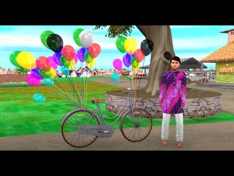 गुब्बारे वाला Hindi Kahaniya - Moral Stories - Cartoon Fairy Tales - Panchatantra Stories for Kids