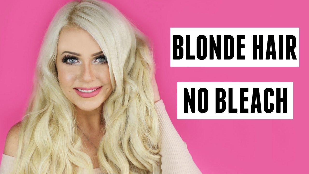 blonde hair with bleach tutorial