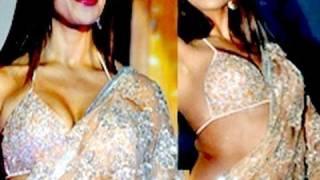 Repeat youtube video Bipasha Basu HOT SAREE blouse