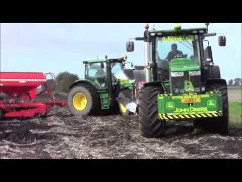 3 John Deeres ploughing & drilling.2014.wvm
