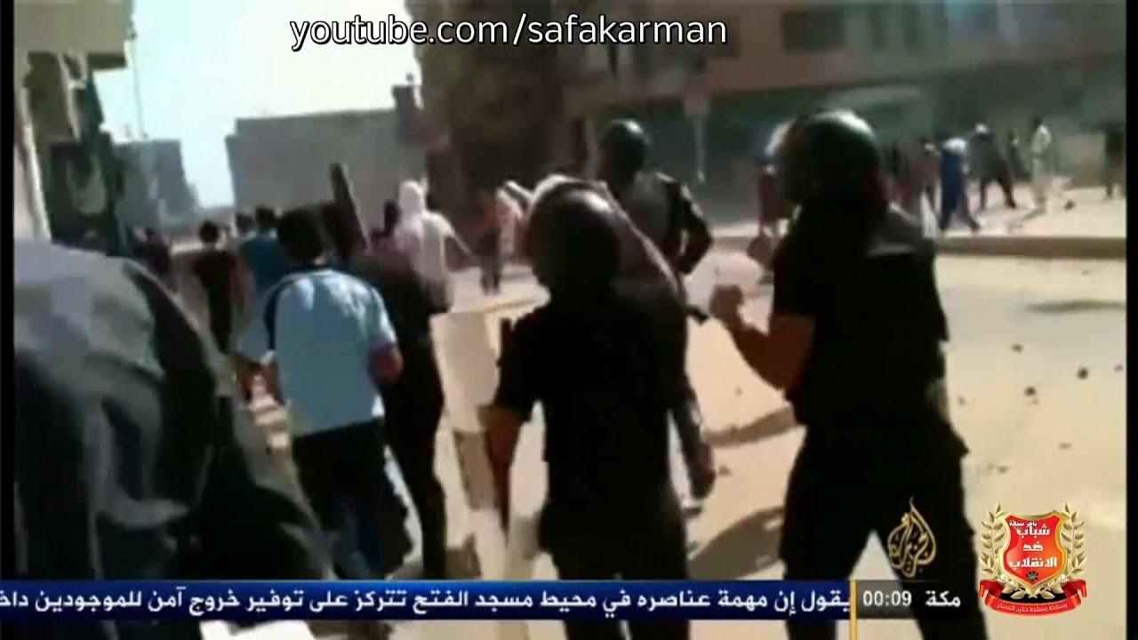 شاهد البلطجية في مصر تدعم الجيش في قمع مؤيدي مرسي