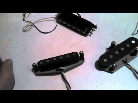 "DylanPickups Custom Tele ""Matched Set / Alnico 5 / Nickel"", Bill Lawrence Keystone pickup inspection"