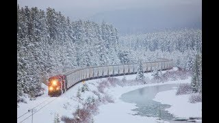 Relaxing Train Sounds and Blizzard Howling