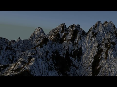 Blender Mountain Landscape 3D animation CGI HD