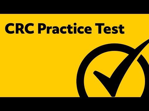 CRC Exam Practice Test